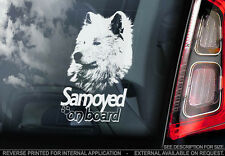 Samoyed - Car Window Sticker - Dog Sign -V02