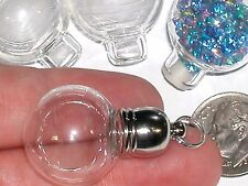 1pc  Round Globe Crystal Ball Large Pendant Glass BOTTLE vial necklace charm *