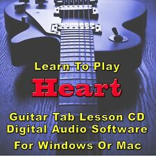 HEART Guitar Tab Lesson CD Software - 26 Songs