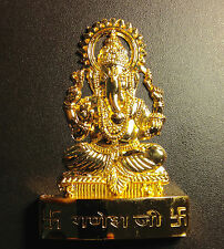 GANESHA  HINDU GOD OF GOOD LUCK & FORTUNE  APPROX 4 INCH HIGH BRASS ENERGIZED