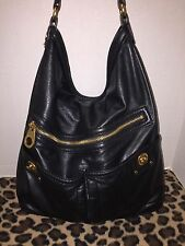 Marc by Marc Jacobs Totally Turnlock Faridah Black Leather Hobo Shoulder Bag