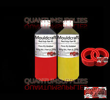 Mouldcraft Red Poly Flex 85 Shore Fast Cure 500g Polyurethane Casting Rubber