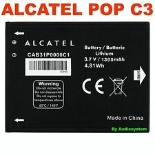 BATTERIA 1300Mah ORIGINALE PER ALCATEL ONE TOUCH POP C3 4033D CAB31P0000C1 OT