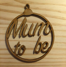 """New born """"Mum to be"""" Christmas Tree Bauble, Gift Tag"""