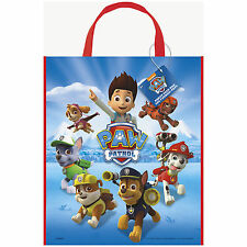 """13"""" Paw Patrol Rescue Puppy Pets Birthday Party Treat Loot Gift Tote Bag"""