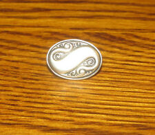 """Metal Tie Clip Mens Jewelry Capital """"S"""" S Letter Silver Color"""