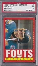 1985 Topps BOX BOTTOMS #F DAN FOUTS PSA 5 EX San Diego CHARGERS - Panels