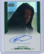 2015 Topps Star Wars Chrome Perspectives RAY PARK as DARTH MAUL 43/50 Auto Prism