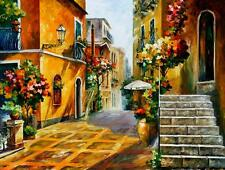 "THE SUN OF SICILY — Oil Painting On Canvas By Leonid Afremov.   Size: 40""x30"""