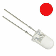 10 x Red Flickering Candle Effect 5mm LED Bulb