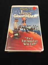 James and the Giant Peach Walt Disney VHS Movie PG Children family 1996