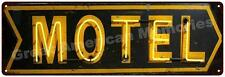 Motel Neon Look Vintage Reproduction Metal Sign 6x18 6180399