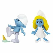 The Smurfs Grab Ems 2-Pack Wave #1 Smurfette & Clumsy 100% Brand New