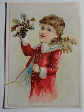 1800'S VICTORIAN TRADE CARD L A SHIVE'S & SONS FURNITURE 207 W MARKET ST YORK PA