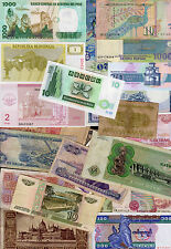 Set of 25 Different Banknotes 25 Different Countries Poland Japan Italy #U3