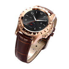 Waterproof Bluetooth Smart Watch IPS Heart Rate Camera for Android IOS Gold New