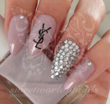 CELEBRITY YSL NAIL ART WATER DECALS  DECORACION DE UÑAS CALCOMANIAS