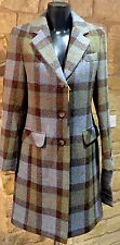 Harris Tweed Hand Woven Ladies 7/8th Wool Country Riding Coat Si/16 Or 18