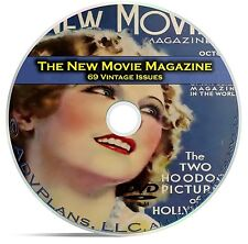 The New Movie Magazine, 69 Issues, Classic Movie Fan History Celeb's, DVD CD C21