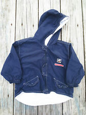 Catimini ~ Boys Boutique Chef Navy Blue Parka Jacket ~ Size 18 months