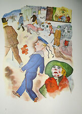 George Grosz Berlin Passanten Matrose Dame Bettler Gasthaus Paris Vespasienne