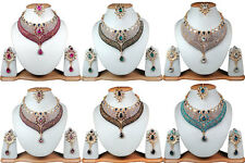 New Wholesale Lot Of 6 Necklaces Handmade Kundan Bridal Jewelry 6H7