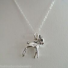 Fawn Necklace - 925 Sterling Silver Deer Charm *NEW* Fawn Baby Doe Forest