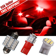 "6 X Red LED lights Tag lamp + T10 & 31mm Dome Map 1.22"" for Interior package Kit"