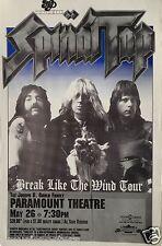 """SPINAL TAP """"BREAK LIKE THE WIND TOUR"""" 1992 DENVER CONCERT POSTER - Glam Metal"""