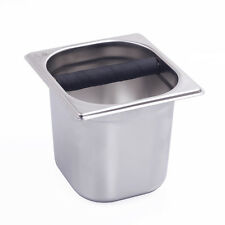 Deep Stainless Steel Coffee Grounds Knock Box Coffee Waste Bin Recycle holder
