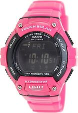 Casio WS220C-4BV Tough Solar 120-LAP Memory Stopwatch Sports Watch - Glossy Pink