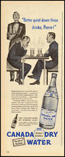 1945 Vintage ad for CANADA Dry Water/men playing chess illustration (032613)