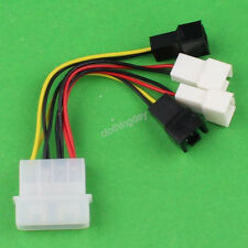 Multi Connector 4-pin 12V to 2/3pin 12V 5V Y-Splitter PC Fan Power Wire