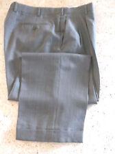 "Zanella Gray And Brown needlepoint Pleated Dress Pants Size 38""W /27"" L"
