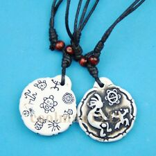 Tribal style pictographic frog turtle symbol pendant necklace RH137