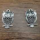 Free Shipping New 5 Pcs Tibetan Silver Owl Charms Connector 20x30mm