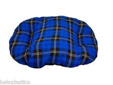 XL EXTRA LARGE BLU COTONE TARTAN cane gatto cuscino letto per cestello interno fatta in UK