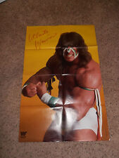 ULTIMATE WARRIOR wrestling DOUBLE-SIDED POSTER wwf 32X21