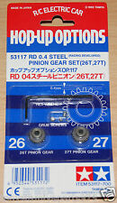 Tamiya 53117 RD 0.4/04 Steel Pinion Gear Set (26T & 27T) *F102/F103/F104/Group-C