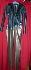 fetish latex rubber cat suit 36 to 40 chest metallic bdsm 50 shades of sexy TV