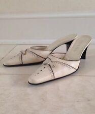 Prada Heels Slide Pumps Beige Size 38