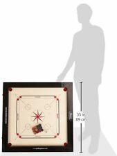 Surco Tournament Speedo Carrom Board with Coins and Striker, 16mm