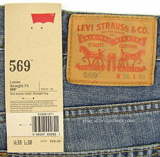 Levis 569 Jeans New Mens Loose Straight Sz 36 X 30 Rugged Levi's NWT 1271 #1043