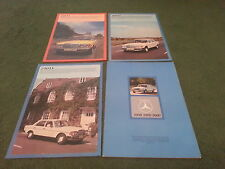 Nov 1976 MERCEDES BENZ 200D 240D 300D SALOON W123 UK 30pg BROCHURE + 3x FOLDERS
