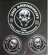 #45 - 2ND AMENDMENT SHALL NOT BE.. Helmet / Tank sticker pack (1017) 3 Decals