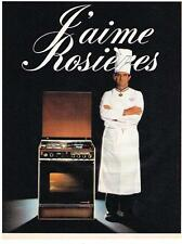 PUBLICITE  1980  ROSIERES  cuisinière PAUL BOCUSE