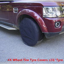 "Universal  Wheel Tire Covers Set of 4 For Trailer Truck Car Auto ≤31"" Diameter"