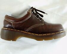 Dr. Martens Brown Leather Boots Size 8 Made England Doc Martin Air-Cushion 9846