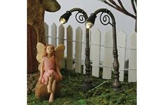 Miniature Dollhouse FAIRY GARDEN ~ Scroll Lights LED – Pair ~ NEW