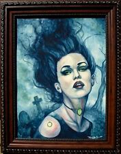 ORIGINAL PULP GOTH ILLUSTRATION HORROR GOTHIC COVER ART PAINTING HALLOWEEN!